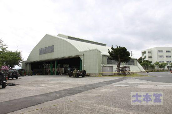 大津駐屯地の旧大津海軍航空隊の格納庫