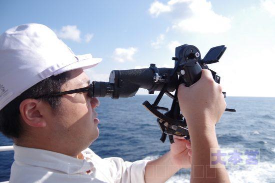 水産大学校の天測訓練