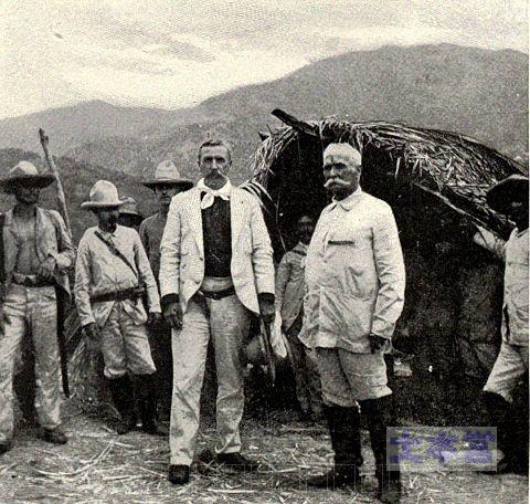 カリスト・ガルシア(左側)第二次キューバ独立戦争の反乱軍司令官
