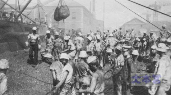 1917ジョージアの石炭搭載作業