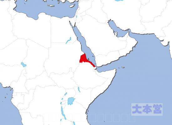 エリトリア地図
