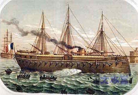史上初の装甲艦ラ・グロワール