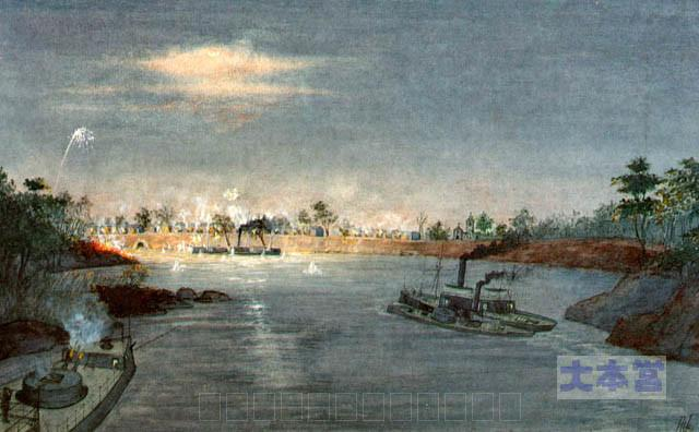 河川での戦闘