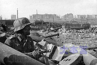 スターリングラードで戦うドイツ兵