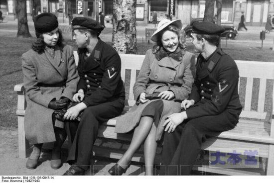 ヘルシンキでフィンランド女性と交際中のドイツ水兵