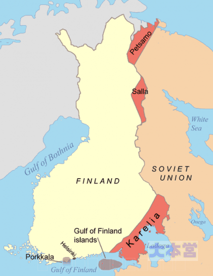 モスクワ休戦協定でソ連が奪った領土