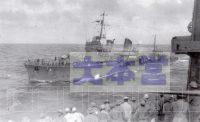 1941、12月10日第二艦隊旗艦愛宕から文書受領する響
